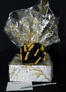 Small Box - Gold Swirl Cellophane - Black & Gold Bow - 12 Cookies and Brownies