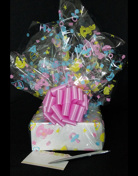 Small Box - Baby Cellophane - Baby Pink Bow - 12 Cookies and Brownies