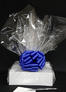 Medium Box - Clear Cellophane - Blue Bow - 18 Cookies and Brownies