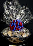 Super Basket - Graduation Cap Cellophane - Red & Blue Bow - 60 Cookies and Brownies