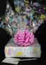 Medium Box - Baby Cellophane - Baby Pink Bow - 18 Cookies and Brownies