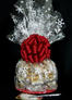 Large Cellophane - Snowflake Cellophane - Red Bow - 30 Cookies and Brownies