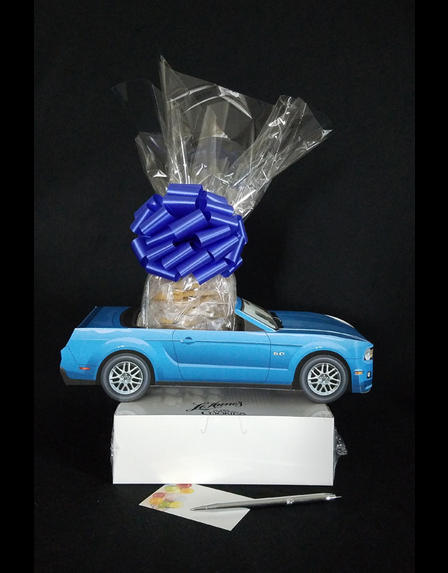 Blue Modern Car - Small Tower - 36 Cookies and Brownies