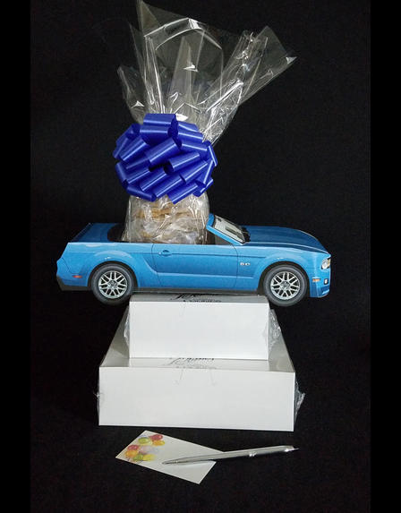 Blue Modern Car - Large Tower - 48 Cookies and Brownies
