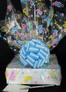 Medium Box - Baby Cellophane - Baby Blue Bow - 18 Cookies and Brownies