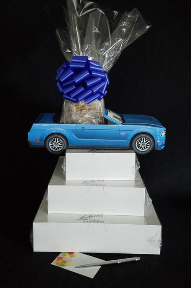 Blue Modern Car - Super Tower - 84 Cookies and Brownies