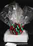 Medium Box - Clear Cellophane - Red & Green Bow - 18 Cookies and Brownies