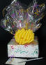 Small Box - Confetti Cellophane - Yellow Bow - 12 Cookies and Brownies