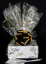 Small Box - Black & Gold Cellophane - Black & Gold Bow - 12 Cookies and Brownies