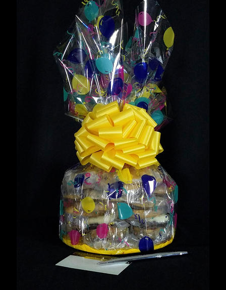 Large Cellophane - Balloon Cellophane - Yellow Bow - 30 Cookies and Brownies