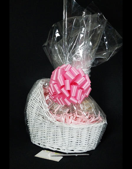 Baby Bassinet - Baby Pink Bow - 24 Cookies and Brownies