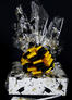 Medium Box - Graduation Cap Cellophane - Black & Yellow Bow - 18 Cookies and Brownies
