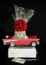 Small Tower - Red Classic Car - Clear Cellophane - Red Bow