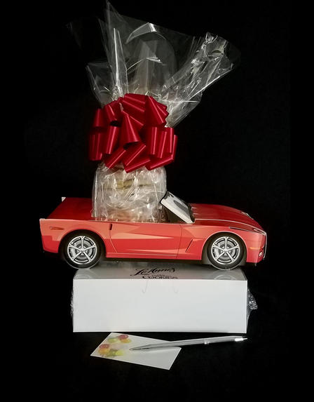 Red Modern Car - Small Tower - 36 Cookies and Brownies