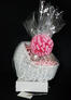 Baby Bassinet - Small Tower - Baby Pink Bow - 48 Cookies and Brownies