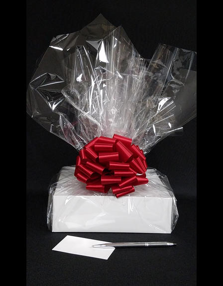 Medium Box - Clear Cellophane - Red Bow - 18 Cookies and Brownies