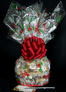 Medium Cellophane - Holly & Berries Cellophane - Red Bow - 24 Cookies and Brownies