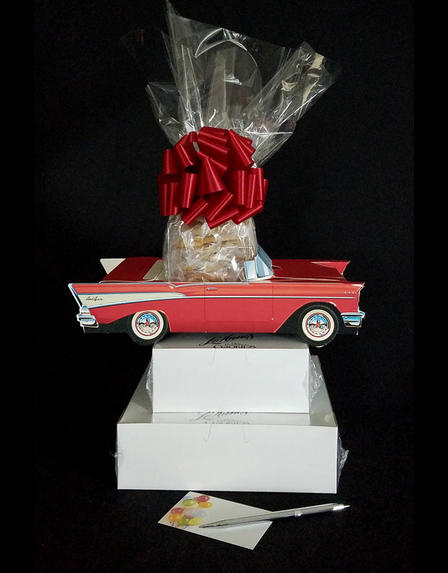 Red Classic Car - Large Tower - 48 Cookies and Brownies