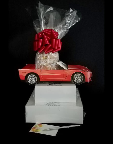 Red Modern Car - Large Tower - 48 Cookies and Brownies