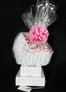 Baby Bassinet - Large Tower - Baby Pink Bow - 60 Cookies and Brownies
