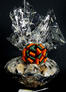 Super Basket - Graduation Cap Cellophane - Orange & Green Bow - 60 Cookies and Brownies