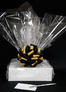 Medium Box - Clear Cellophane - Black & Gold Bow - 18 Cookies and Brownies