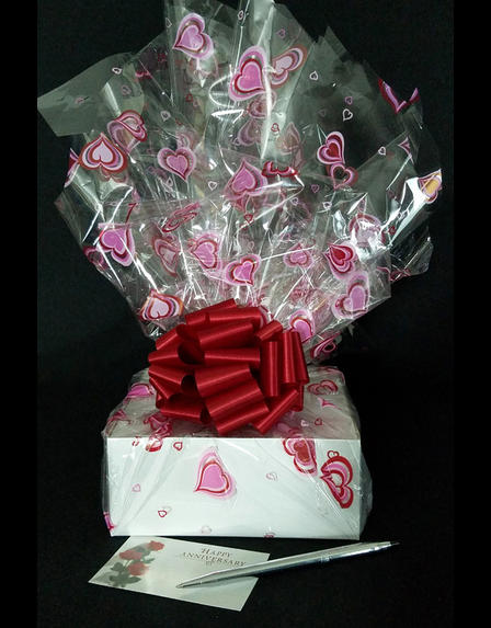 Small Box - Heart Cellophane - Red Bow - 12 Cookies and Brownies