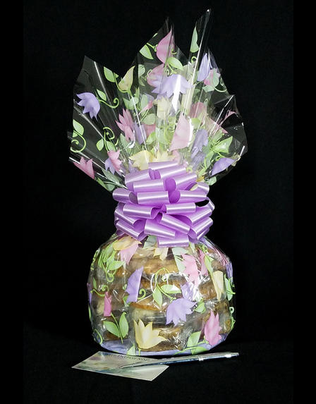 Medium Cellophane - Lily Cellophane - Lavender Bow - 24 Cookies and Brownies