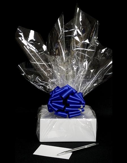 Small Box - Clear Cellophane - Blue Bow - 12 Cookies and Brownies