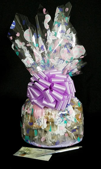 Large Cellophane - Bunny Cellophane - Lavender Bow - 30 Cookies and Brownies