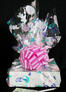 Medium Box - Bunny Cellophane - Pink Bow - 18 Cookies and Brownies