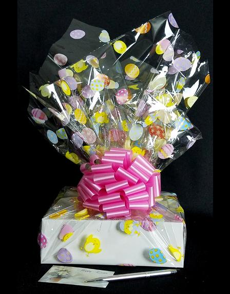 Medium Box - Easter Egg Cellophane - Pink Bow - 18 Cookies and Brownies