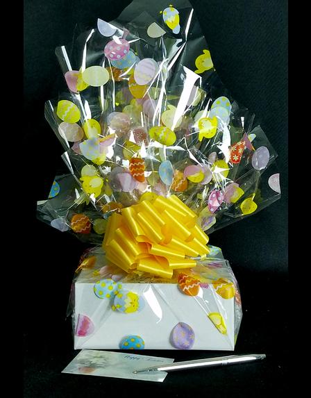 Small Box - Easter Egg Cellophane - Yellow Bow - 12 Cookies and Brownies