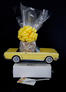 Small Tower - Yellow Classic Car - Clear Cellophane - Yellow Bow