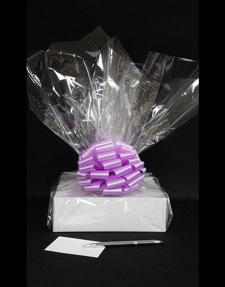 Medium Box - Clear Cellophane - Lavender Bow - 18 Cookies and Brownies