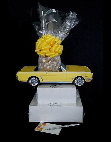 Yellow Classic Car - Large Tower - 48 Cookies and Brownies