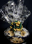 Large Basket - Graduation Cap Cellophane - Green & Gold Bow - 36 Cookies and Brownies