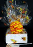 Small Box - Fall Leaves Cellophane - Orange & Yellow Bow - 12 Cookies and Brownies