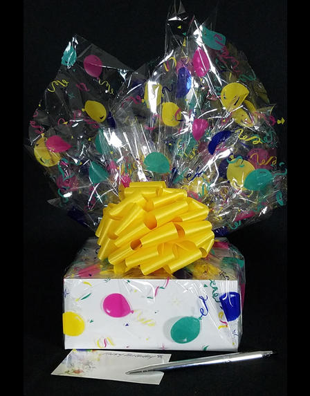 Small Box - Balloon Cellophane - Yellow Bow - 12 Cookies and Brownies