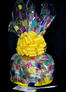 Super Cellophane - Balloon Cellophane - Yellow Bow - 42 Cookies and Brownies