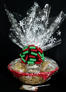 Large Basket - Snowflake Cellophane - Red & Green Bow - 36 Cookies and Brownies