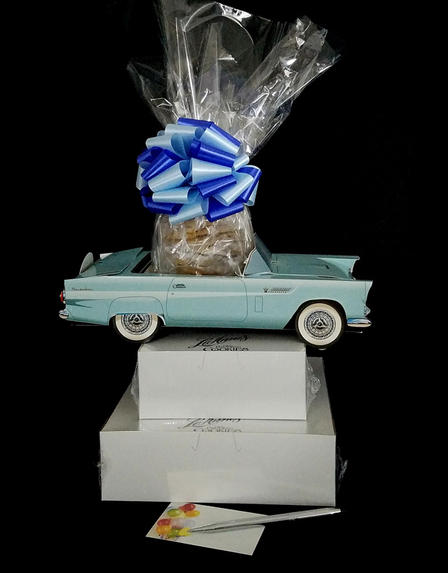 Blue Classic Car - Large Tower - 48 Cookies and Brownies