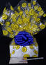 Small Box - Smiley Cellophane - Blue Bow - 12 Cookies and Brownies