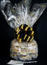 Large Cellophane - Black & Gold Confetti Cellophane - Black & Gold Bow - 30 Cookies and Brownies