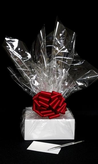 Small Box - Clear Cellophane - Red Bow - 12 Cookies and Brownies