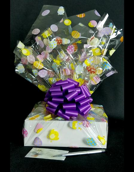 Medium Box - Easter Egg Cellophane - Purple Bow - 18 Cookies and Brownies