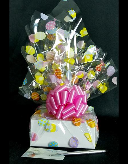 Small Box - Easter Egg Cellophane - Pink Bow - 12 Cookies and Brownies