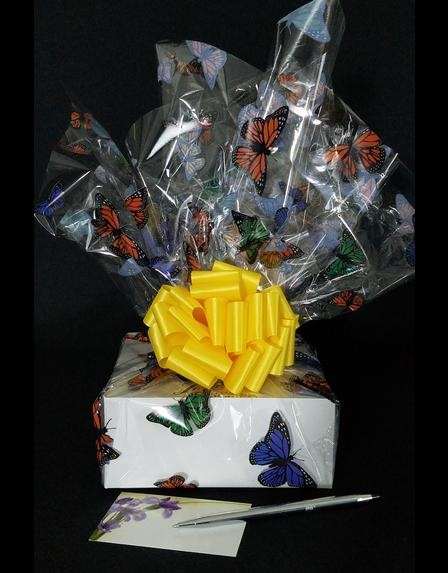 Small Box - Butterfly Cellophane - Yellow Bow - 12 Cookies and Brownies