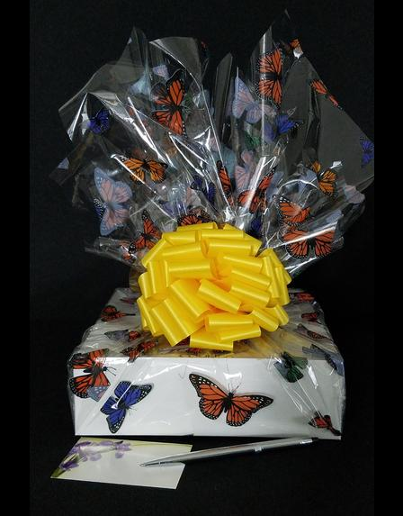 Medium Box - Butterfly Cellophane - Yellow Bow - 18 Cookies and Brownies
