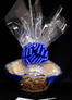 Large Basket - Clear Cellophane - Blue Bow - 36 Cookies and Brownies